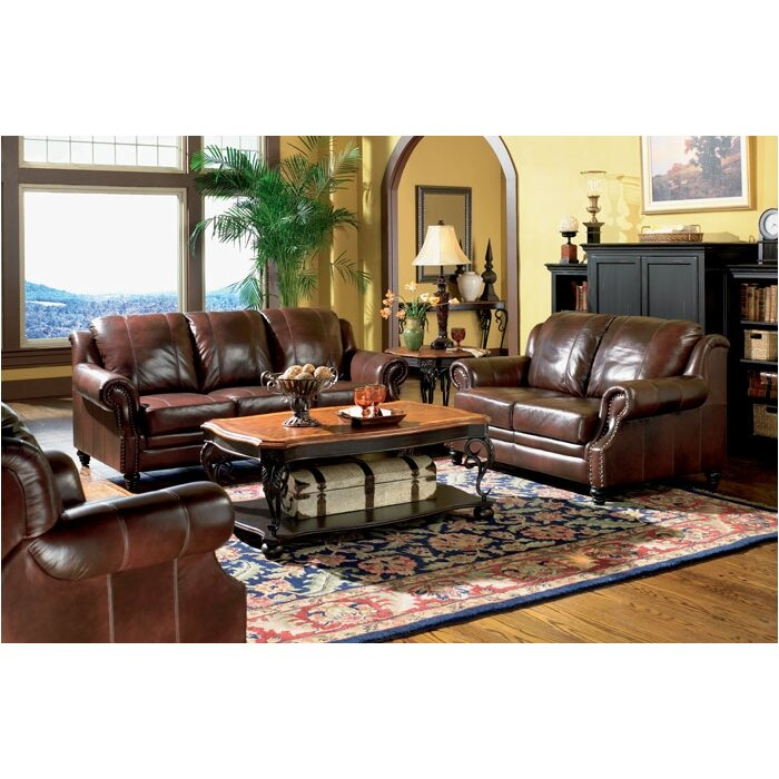 Rosetta Reclining Leather Configurable Living Room Set
