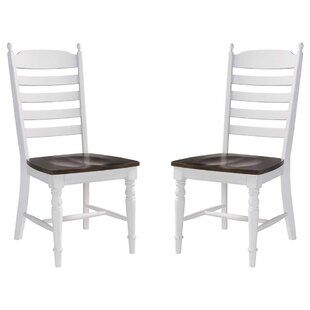 Brinda Solid Wood Dining Chair (Set of 2) August Grove