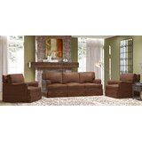 Alto 3 Piece Leather Living Room Set by Westland and Birch