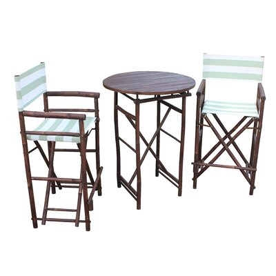 Waterford 3 Piece Bar Height Dining Set Bay Isle Home Color EspressoCeladon