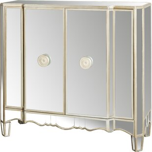 Matteo 2 Door Mirrored Accent Cabinet