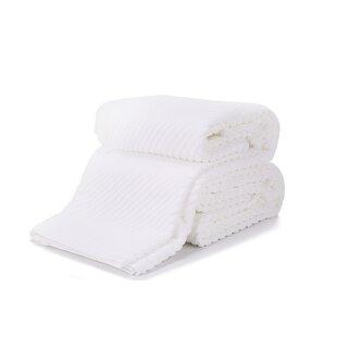 Latrell 2 Piece Luxury Cotton Bath Towel Set (Set of 2)