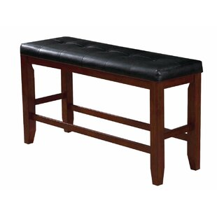 Nasrah Counter Height Wood Bench by Red B..