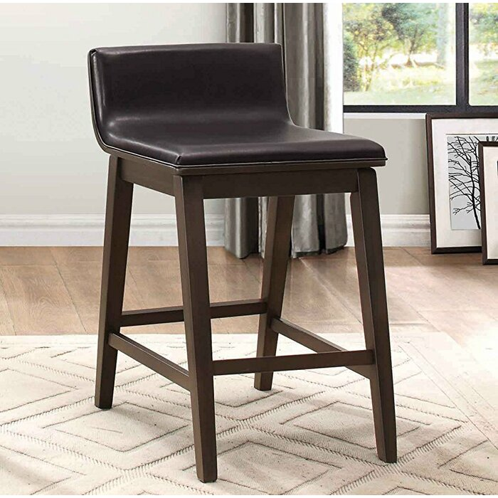 Ideas About Wood Leather Counter Stool Onthecornerstone