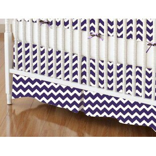 Check Prices Chevron Zigzag Crib Skirt By Sheetworld