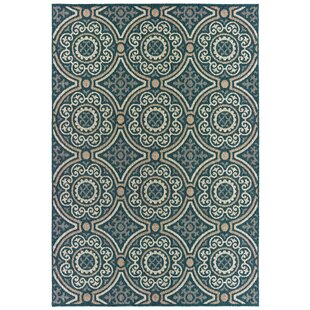 Berryville Panel Medallion Blue/Gray Indoor/Outdoor Area Rug