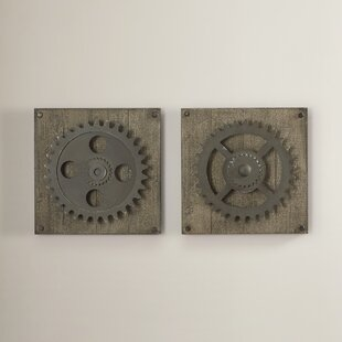 2 Piece Gear Wheel Wall Décor Set