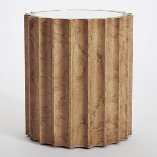Reflective Column End Table by Global Views