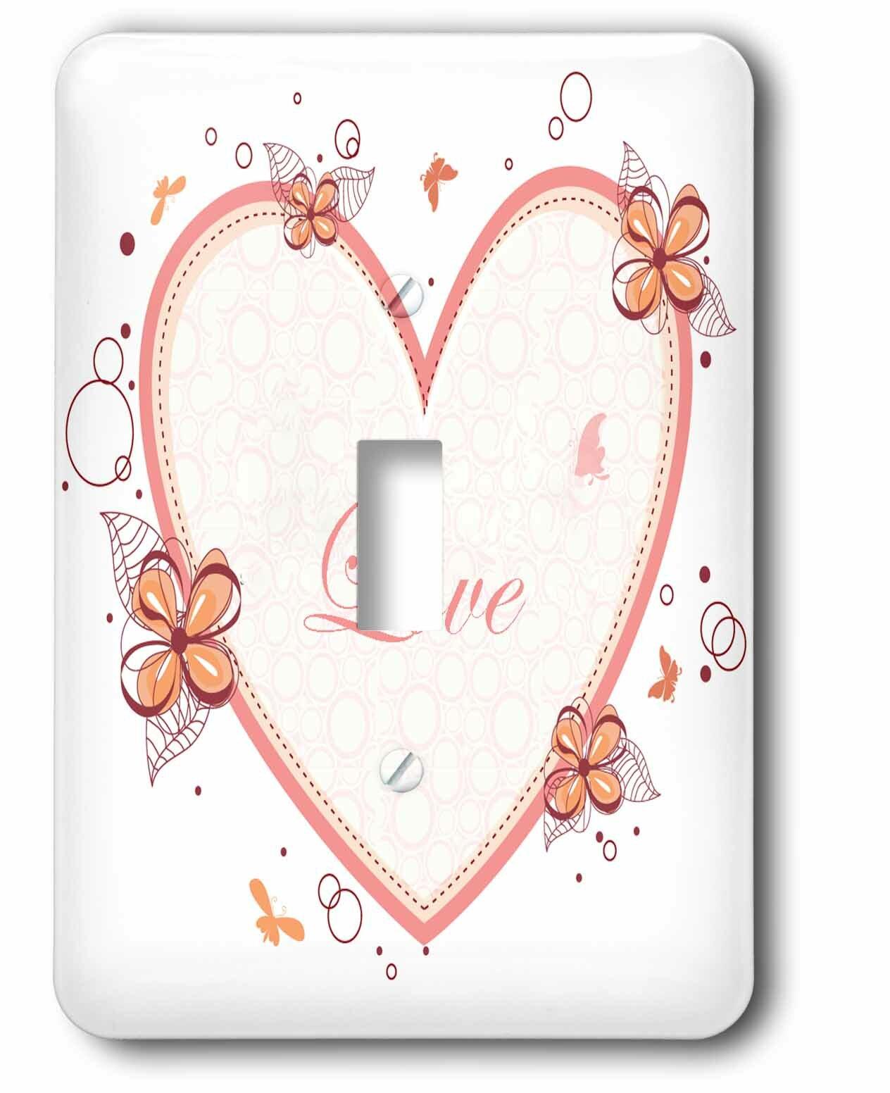 3drose A Heart 1 Gang Toggle Light Switch Wall Plate Wayfair