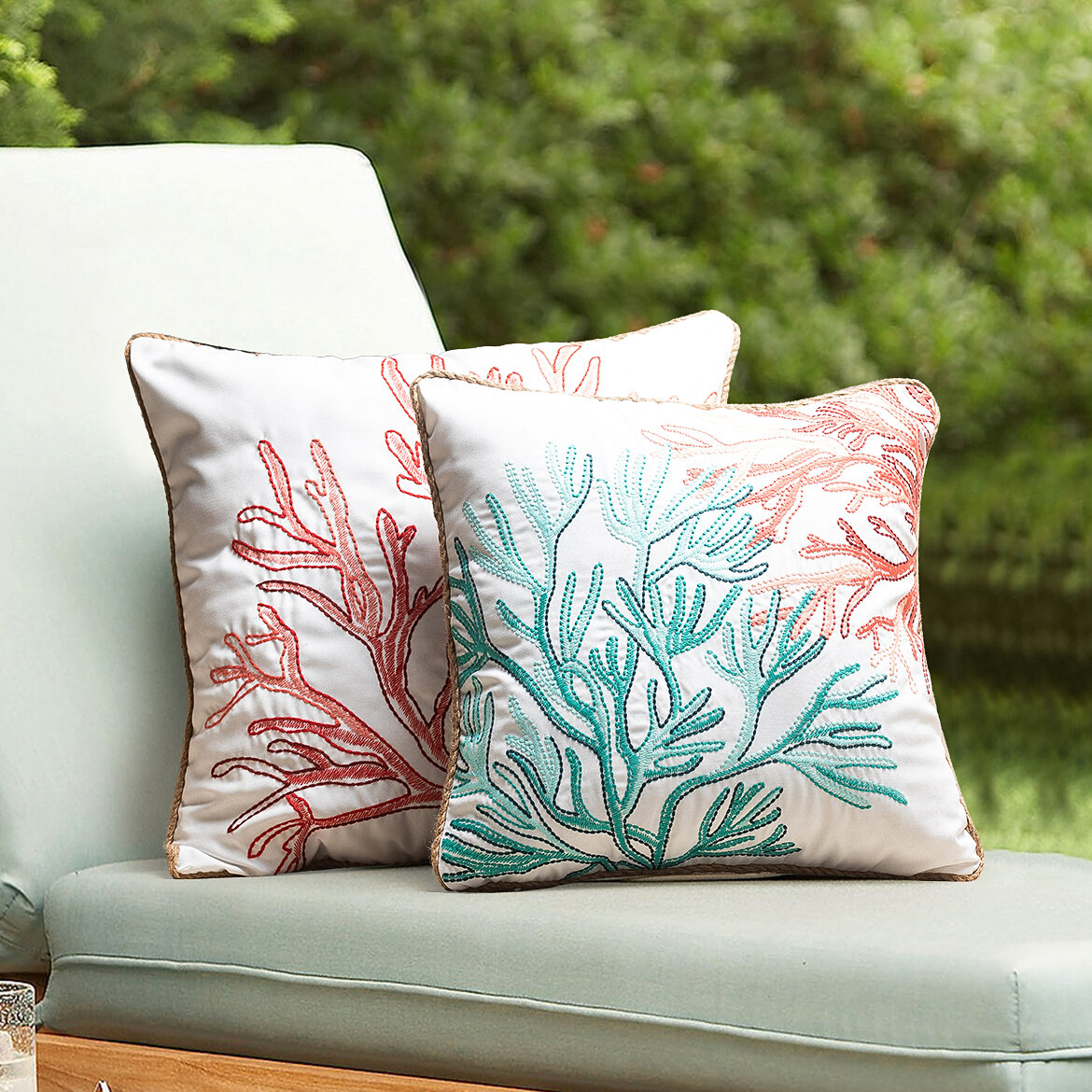 Rosecliff Heights Mccoli Indoor Outdoor 20 Throw Pillow Cover Wayfair
