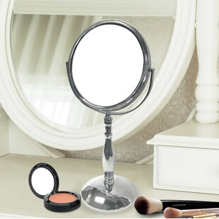 Great Price Dizon Round Double Sided Magnifying Standing Makeup/Shaving Mirror By Charlton Home