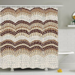 Vintage Antique Mosaic Shower Curtain Set