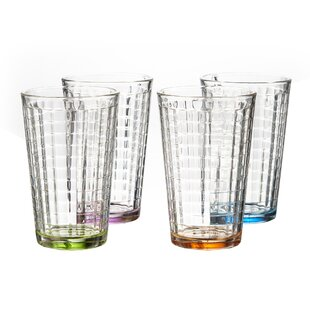 Hoboken colored 14 oz. Highball glass (Set of 4)