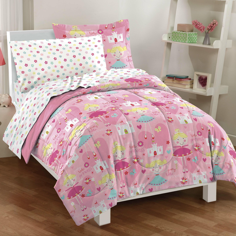 Dream Factory Unicorn Rainbow Ultra Soft Microfiber Comforter Set Full Purple