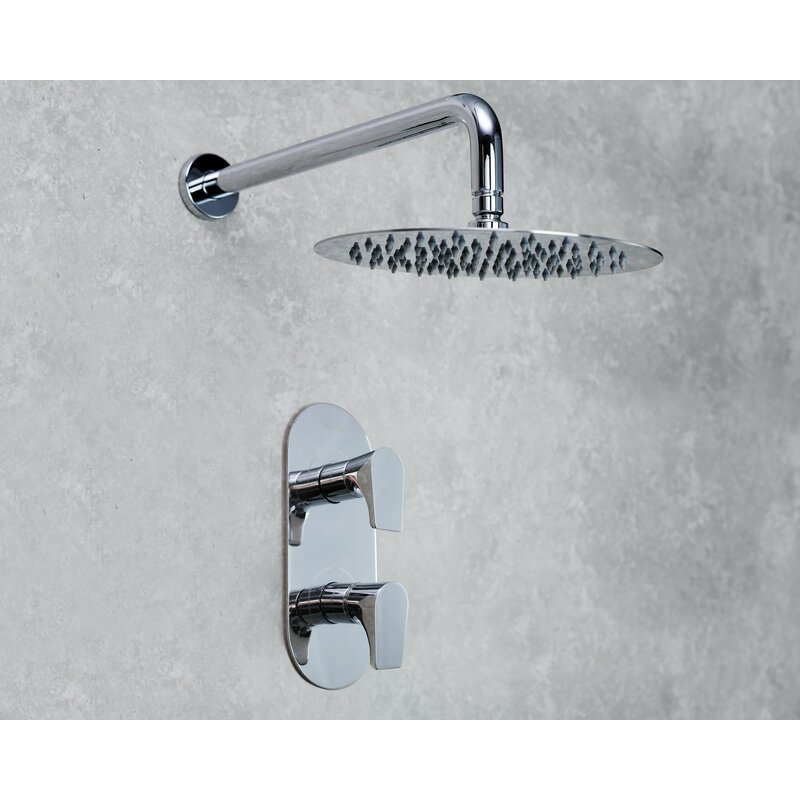 Bristan Hourglass Dual Concealed Mixer Shower with Shower Kit Fixed Head