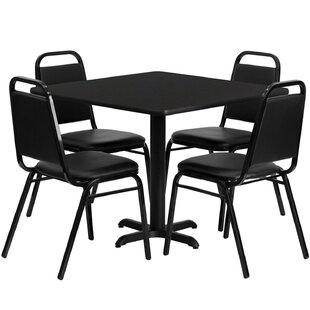 Jazmin 5 Piece Dining Set Ebern Designs