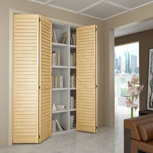 Plantation Louver Wood Panel Bi Fold Door