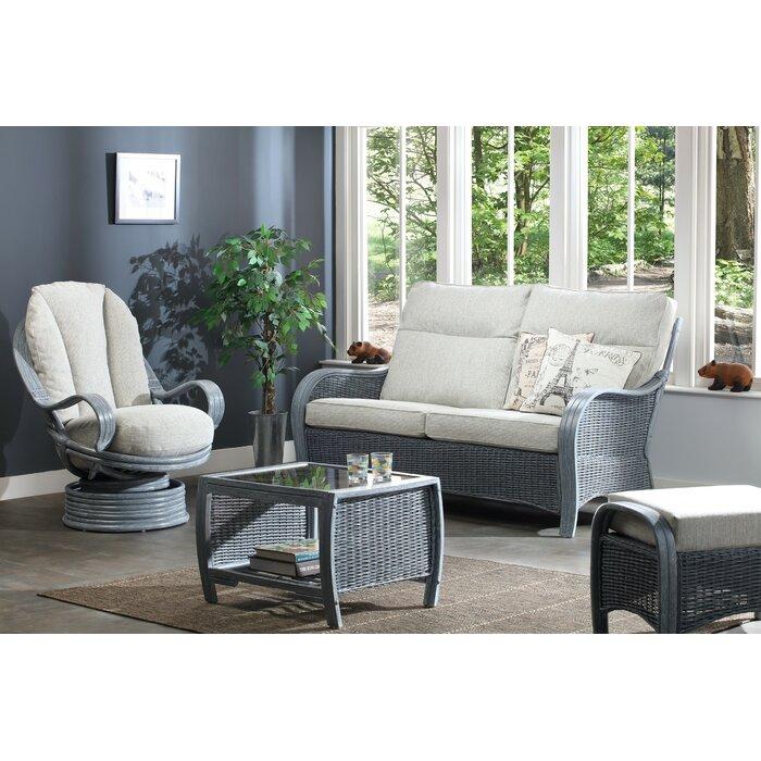 Dassel Grey 3 Seater Sofa Swivel Rocker Footstool Coffee Table In Pebble