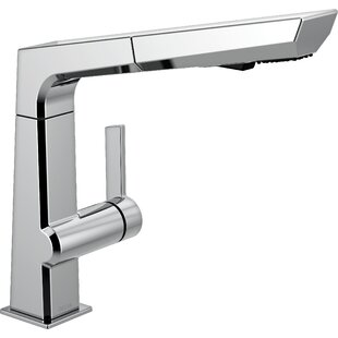 Delta Pivotal Pull Out Single Handle Kitchen Faucet with Diamond Seal Technology