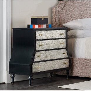 Epoque Eglomise 4 Drawer Bachelor's Chest by Cynthia Rowley