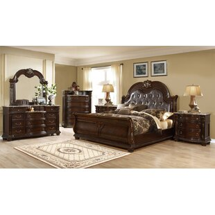 Astoria Grand Taja King Sleigh 4 Piece Bedroom Set