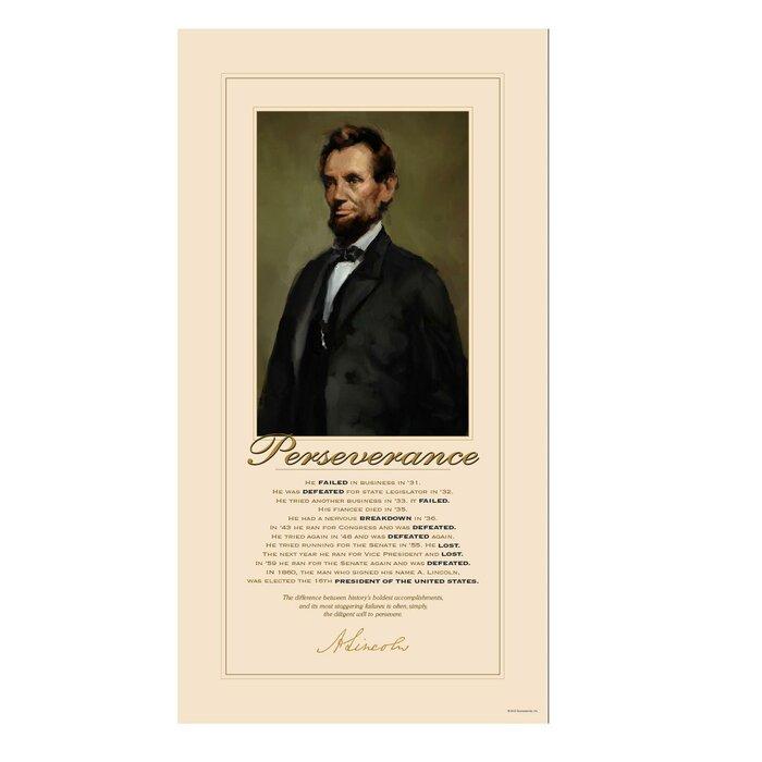 Abraham Lincoln Motivational Graphic Art