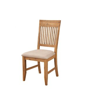 Wilkes Slatted High Back Solid Wood Dining Chair (Set of 2) by Millwood Pines