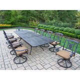 Zonia 11 Piece Dining Set with Cushions
