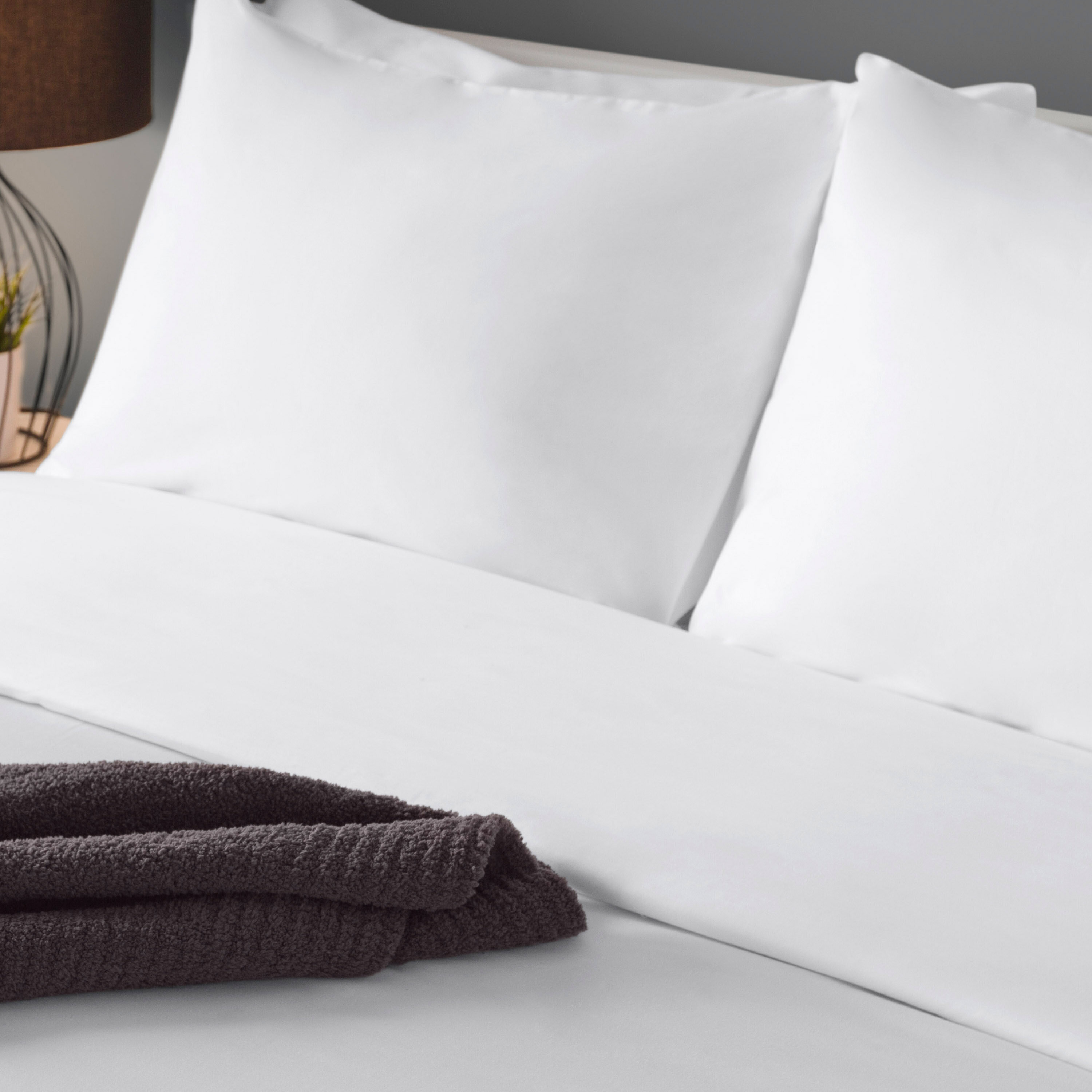 Elite White Pillowcases 12-Pack Standard Size T-180 Percale