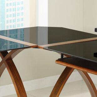 Sunterra Corner Desk Connector In Black Glass By George Oliver