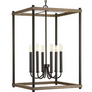 Gracie Oaks Maez 6-Light Square/Rectangle Chandelier