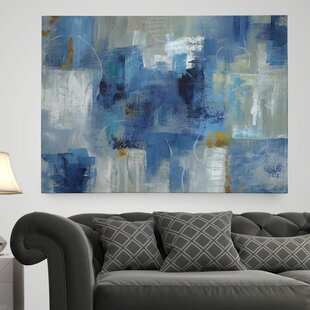 Blue Morning Painting Print On Wrapped Canvas
