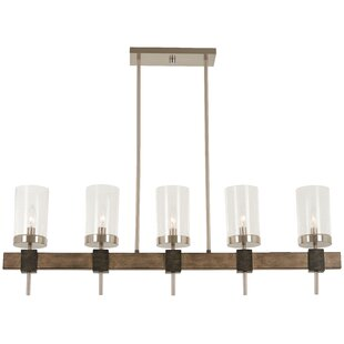 Union Rustic Liptak 5-Light Kitchen Island Pendant