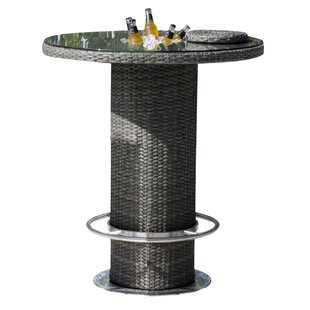 Saliba Wicker Bar Table by Latitude Run Discount