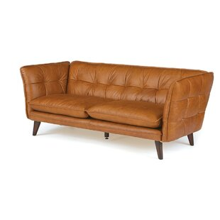 Lysander Leather Chesterfield Sofa by 17 Stories