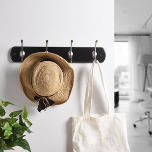 Hampson Oval Base Contemporary Wall Mounted Coat Rack by Winston Porter