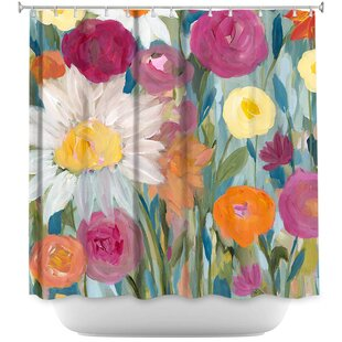 Earth at Daybreak Flowers Single Shower Curtain