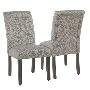 Best Reviews Kelm Upholstered Dining Chair (Set of 2) (Set of 2) by Charlton Home