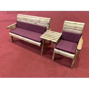 Gaines Wooden Love Seat By Union Rustic
