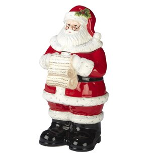 Gianna 3-D Santa 2.43 qt. Cookie Jar