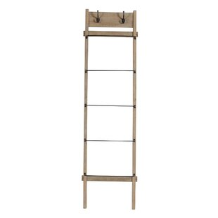 Domingues Wood and Metal Ladder Bookcase