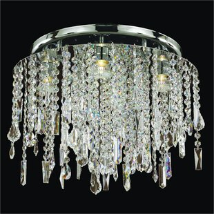 Glow Lighting Divine Ice 5-Light Close Up Flush Mount