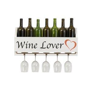 Truluck Wine Lover 4 Bottle Wall Mounted Wine Rack