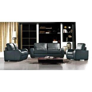 Hokku Designs Savana 3 Piece Leather Livi..