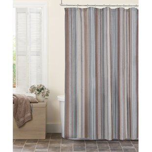 Great choice Dell Stipe Fabric Shower Curtain ByWinston Porter