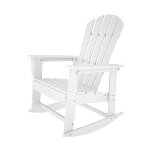 POLYWOOD® South Beach Plastic Rocking Adirondack Chair