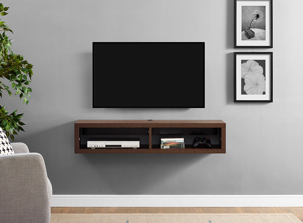 Martin Home Furnishings Shallow Wall Mounted Tv Stand For Tvs Up To 48 Reviews Wayfair
