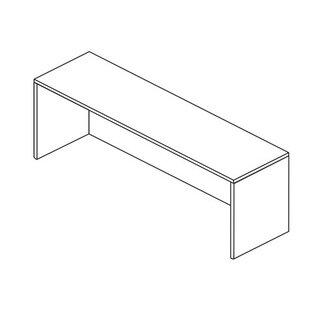 Jusino Wood Desk Shell by Latitude Run