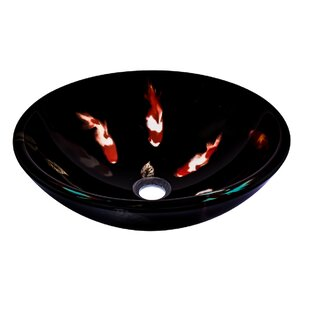 Guide to buy Fiche Glass Circular Vessel Bathroom Sink By Novatto