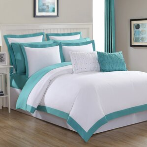 Aqua Blue And White Bedroom duvet cover sets you'll love | wayfair